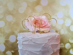 Personalized Heart to Heart Wedding Cake Topper - Shabby Chic Wedding, Vintage Wedding, Wine Wedding, Rustic Wedding