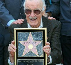 Stan Lee with his Hollywood Walk Of Fame star.