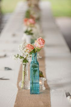 In love with this shabby-chic table decor! {BraskaJennea Photography}