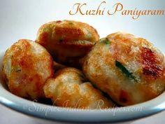 Chettinad Kuzhi Paniyaram: South Indian Breakfast an tiffin dish.