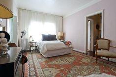 Pink bedroom in designer Kelly Stewart studio in Los Angeles