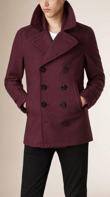 Wool Cashmere Pea Coat