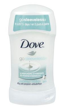 Dove Go Sleeveless Unscented Antiperspirant - from Well.ca #unscented #fragrancefree #scentfree