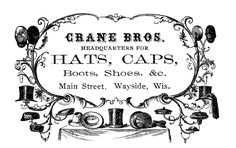 Vintage Advertising Clip Art - Victorian Hats - The Graphics Fairy