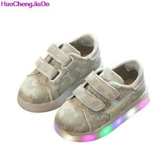 >> Click to Buy << HaoChengJiaDe Boys Shoes Sport Fashion Girls Sneakers Spring Brand Stars Led Girls Princess Shoes Children Shoes With Light 043 #Affiliate