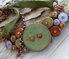 bead jewelry to make into belts, bracelets and even to decorate old hat boxes...