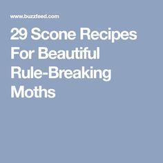 29 Scone Recipes For Beautiful Rule-Breaking Moths