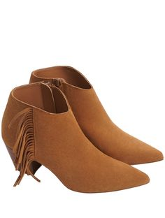 Tan Fringed Leather Frexi Boots at RunwaySale until Tue 28 Feb 12:00