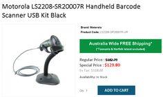 Buy Zebra Handheld Barcode Scanner USB Kit Black @ from OnlyPOS. Hardware Software, Usb, Coding, Australia, Free Shipping, Black, Black People, All Black, Australia Beach