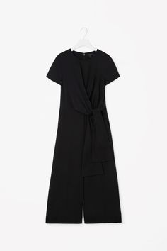 COS image 4 of Jumpsuit with draped top in Black