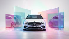 Mercedes Lifecycle with Alessandra Kila on Behance Blur Background Photography, Blurred Background, Creative Poster Design, Creative Posters, Car Advertising, Advertising Design, New Image, Color Blocking, Photoshop