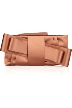 "Valentino ""satin bow clutch"" - love the classic yet modern design"