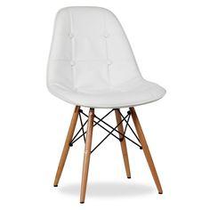 Sessel TOWER, maximaler Komfort und modernes Design. Gestell aus Buchenholz und gepolsterter Sitz aus Kunstleder gefertigt. Verfügbar mit weißem oder schwarzem Sitz. 59,00