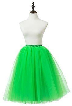 8ed19e0ffce Ikerenwedding Women s A Line Knee Length Tutu Tulle Prom… A Line Skirts