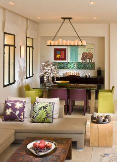 modern blue with plum &.... living room by Elad Gonen & Zeev Beech