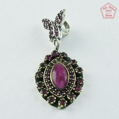 TWO TONE RUBY AGATE STONE 925 STERLING SILVER PENDANT PN4794 #SilvexImagesIndiaPvtLtd #Pendant