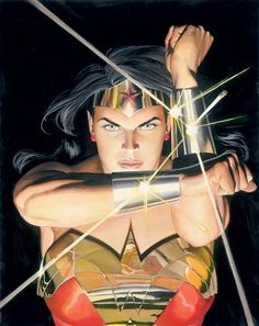 DC Comics Wonder Woman painting by Alex Ross Mythology: Wonder Woman - Limited Edition Giclee on Canvas