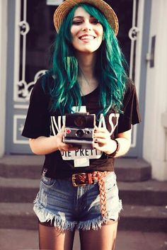#cabelo #colorido #Verde #hulk #fashion #