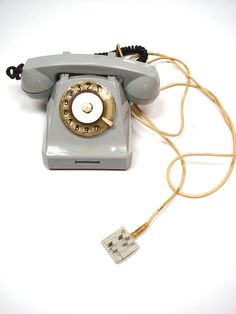 Vintage Telephone Rotary Dial Authentic Soviet by GrandpasTreasury,