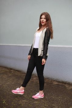 """I gave in to this fashion trend and finally bought a pair of very sporty trainers. I remember saying: """"Trainers with chic clothes?! That's an absolute no-go for me."""" Yup, my will isn't exactly iron."""