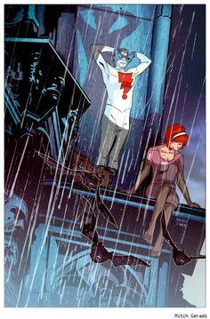 Madman and Joe by Mitch Gerads Comic Book Artists, Comic Books Art, Comic Art, Best Romantic Images, Star Trek, Mitch Gerads, Marvel, Hero Arts, Comic Covers