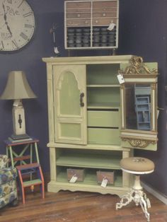 Old cabinet given a new coat of paint and some character!