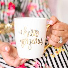 Hello Gorgeous Gold Coffee Mug