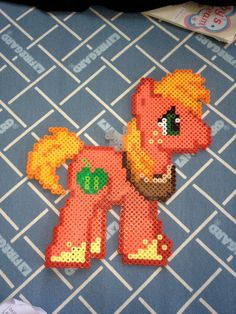 My Little Pony Friendship is Magic Big Mac Made from Perler Beads