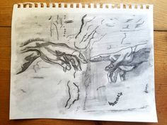 Creation Of Adam Famous Michelangelo Hands by MySalvagedPast