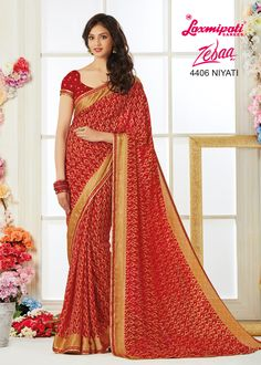 Impress all with your amazing traditional look by draping this saree that earn you loads of plaudits from onlookers. Laxmipati Sarees, Dubai Fashion, Traditional Looks, Maroon Color, Printed Sarees, Beautiful Saree, Bridal Looks, Sarees Online, Indian Dresses