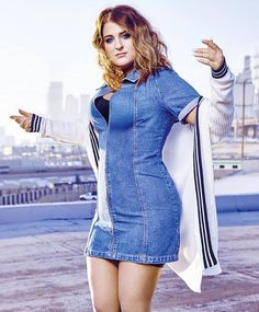 ((FC: Meghan Trainor)) Hey I'm Meghan but you can call me Meg! I'm 19, and a single Pringle!! My best friend is Paige, her and I have been through a lot together! Anyways, I'm supposedly flirty according to Paige! *laughs a little* But I'm pretty quirky and I love to sing and dance. And yeah I'm overweight, do you have a problem with that?? I'm all about that bass! *laughs* Intro? Beautiful Celebrities, Beautiful People, Meghan Trainor, Famous Singers, Look Fashion, Plus Size Fashion, Sexy Women, Casual Outfits, Bodycon Dress