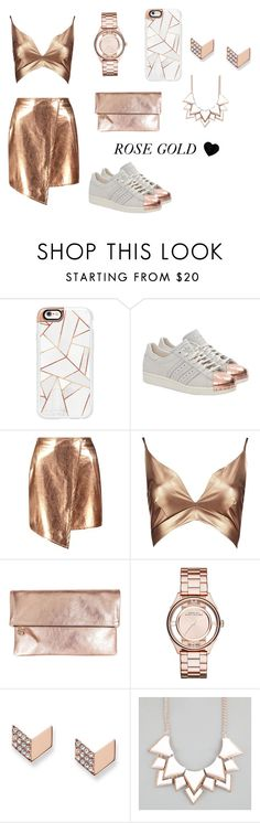 """ROSE GOLD"" by emiliewinkel ❤ liked on Polyvore featuring Casetify, adidas Originals, Boohoo, Clare V., Marc Jacobs, FOSSIL and Full Tilt"