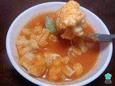 Receta de Sopa de coliflor con queso mexicana
