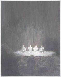 Luc Tuymans  Panel  2010  Oil on canvas  92 1/4 x 71 1/2 (234.3 x 181.6 cm)