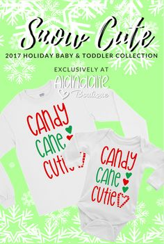 "This bodysuit/ T-shirt is part of our EXCLUSIVE ""Snow Cute"" Baby & Toddler 2017 Holiday Collection! ""Snow Cute"" is a handmade original line from Alandalie Boutique! Boy Onesie, Onesies, Sexy Tattoos For Women, Perfect Body Shape, Holidays 2017, Holiday Outfits, Sexy Body, Special Occasion Dresses, Cute Babies"