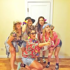 Grab a cheesy Hawaiian shirts, some sunglasses, and your friends to dress up like a group of tacky tourists for Halloween this year!