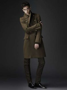 burberry military inspired coat