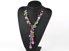 Assorted multi color shell beads Y shape necklace: http://www.aypearl.com/wholesale-shell-jewelry/wholesale-jewellery-X260.html