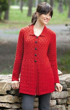 Ravelry: Empire Coat pattern by Margaret Wilson   Leisure Arts' Easy Textured Knits