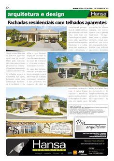 23° Publicação Jornal bom dia – Matéria - Fachadas residenciais com telhados aparentes  03-02-12