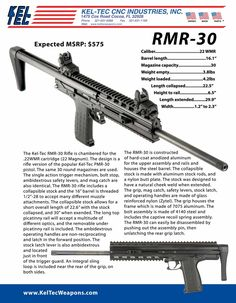 Image is of the Kel-Tec sell sheet for the CMR-30.