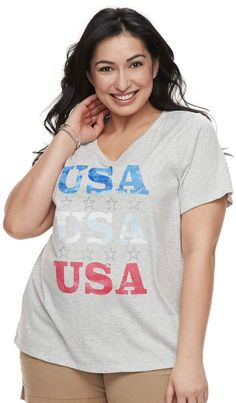 9d6a0fb2ed7e4 Keep your look on trend with this easy to wear women s graphic tee from SONOMA  Goods for Life.