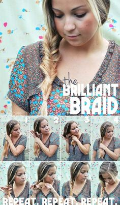It isn't even a braid! I tied it, tried it, and tried it some more... failed it! I suspect the fail was due to my hair being rediculously thick, I was able to master the technique but it just never turned out this nice... I have a very thick ponytail but would love to know through comments if this worked for somebody with thinner hair than myself!