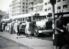 Década de 50 - Avenida São João, com um ônibus da CMTC Aclo-Grassi vulgo Camões.