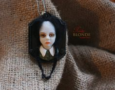 Wednesday Addams The Addams Family Relief Pendant by RustyBlonde