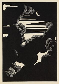 Wolken, 1890. - Félix Vallotton