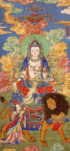 Mahasthamaprapta Bodhisattva by Unidentified Artist| Period: Qing dynasty