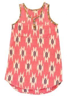 Nico Nico Ikat Tank Cherry Dress