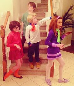 DIY Scooby Doo Theme Halloween Costumes for Kids