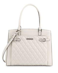 Buy Guess Bay View Saffiano Satchel White Multi Bag